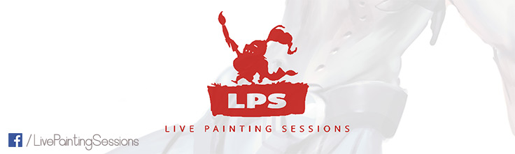 live painting sessions facebook page banner