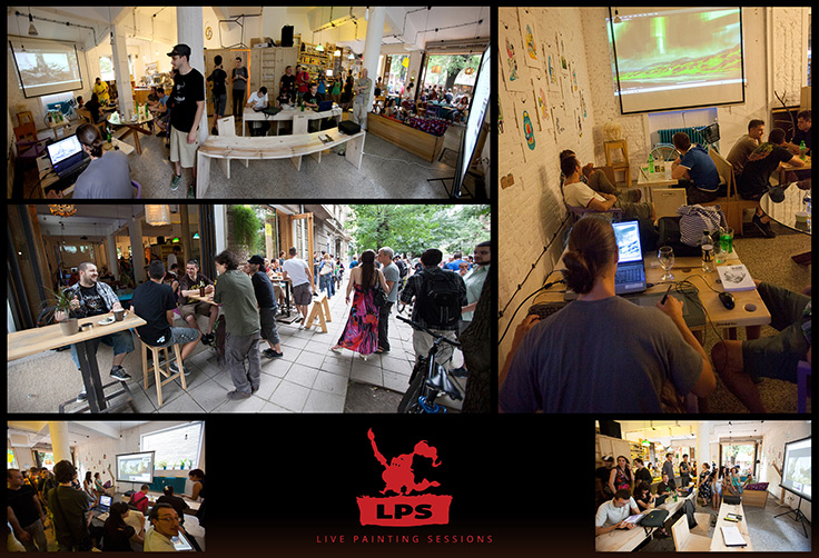 live painting sessions photo