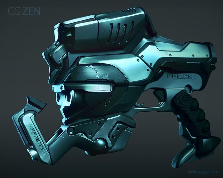 cgzen scifi gun tutorial