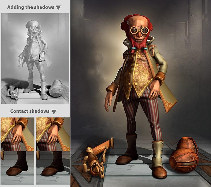 cgzen steampunk scientist making of