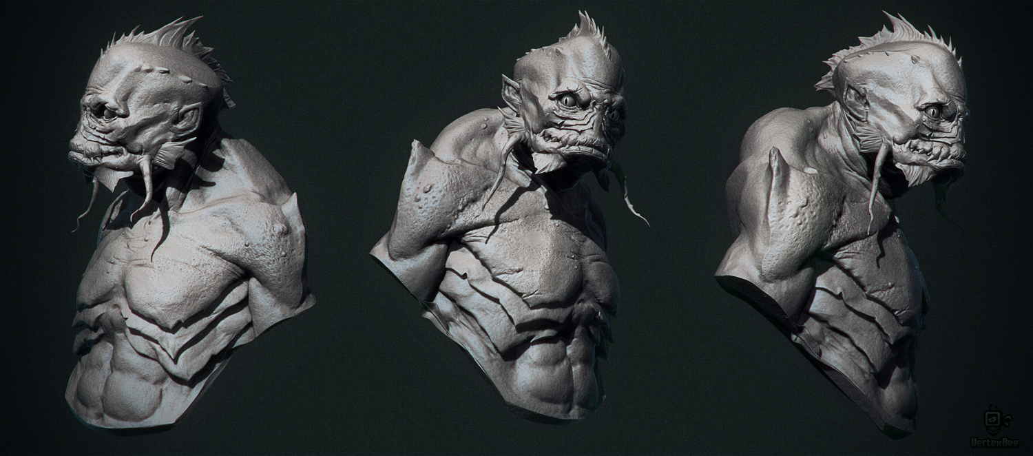 Deep One 3d maket by Martin Punchev