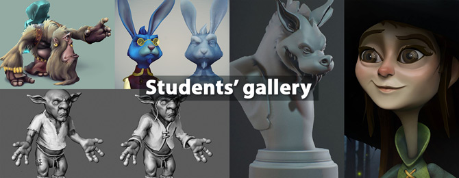 Student works from character design course