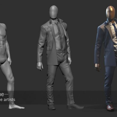 3d clothes creation for characteres