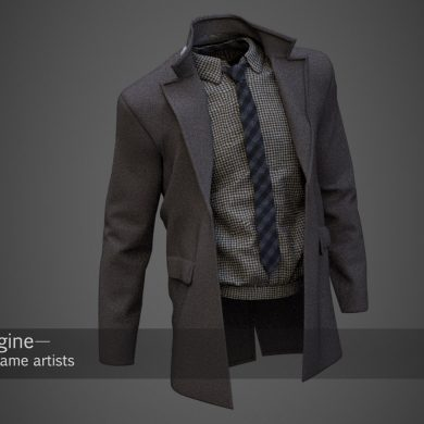 3d model of in-game coat