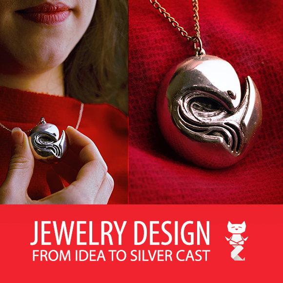 Personalized jewelry from idea and design to silver cast